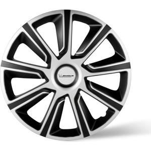 Колпаки колесные MICHELIN 14, 49 Верон, серебристо-черный, 4 шт.