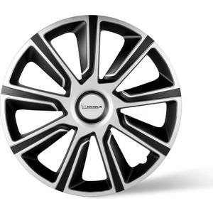 Колпаки колесные MICHELIN 15, 49 Верон, серебристо-черный, 4 шт.