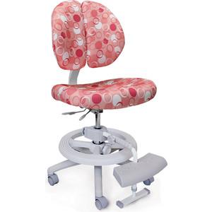 Кресло Mealux Duo-Kid Plus Y-616 P обивка розовая с кольцами (длинный газлифт+две подставки)