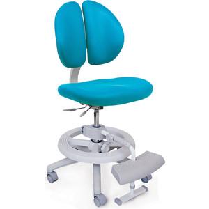 Кресло Mealux Duo-Kid Plus Y-616 KBL обивка голубая однотонная (длинный газлифт+две подставки)