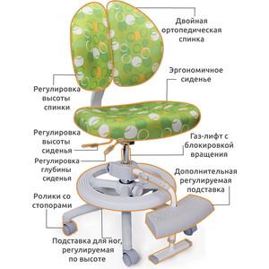Кресло Mealux Duo-Kid Plus Y-616 Z обивка зеленая с кольцами (длинный газлифт+две подставки)