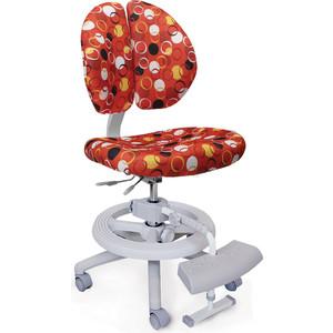 Кресло Mealux Duo-Kid Plus Y-616 R обивка красная с кольцами (длинный газлифт+две подставки)