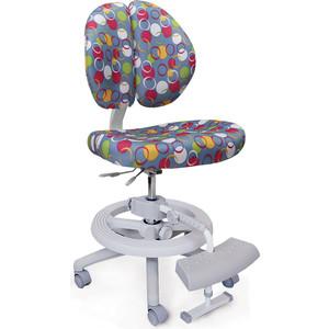 Кресло Mealux Duo-Kid Plus Y-616 B обивка синяя с кольцами (длинный газлифт+две подставки)