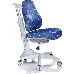 Кресло Mealux Match Y-528 F/grey base основание серое/обивка синяя с мячиками
