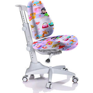 Кресло Mealux Match Y-528 GL/grey base основание серое/обивка фиолетовая с девочками