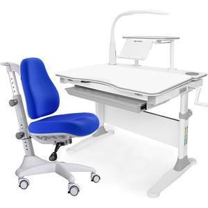 Комплект мебели (стол+полка+кресло+чехол+лампа) Mealux Evo-30 G (Evo-30 + Y-528 SB) белая столешница дерево/серый