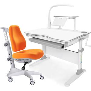 Комплект мебели (стол+полка+кресло+чехол+лампа) Mealux Evo-30 G (Evo-30 + Y-528 KY) белая столешница дерево/серый