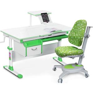 Комплект (стол+полка+кресло+чехол) Mealux Evo-40 Z (Evo-40 + Y-110 AZK) белая столешница/пластика зеленый