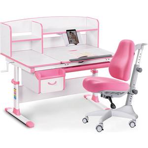 Комплект мебели(стол+полка+кресло+чехол) Mealux Evo-50 PN (Evo-50 + Y-528 KP) белая столешница/розовый