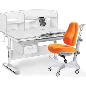Комплект мебели (стол+полка+кресло+чехол) Mealux Evo-50 G (Evo-50 + Y-528 KY) белая столешница/серый