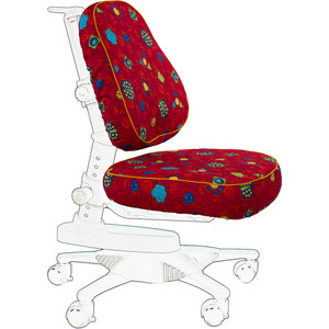 Чехол Mealux RR красный с жучками для кресла newton/match
