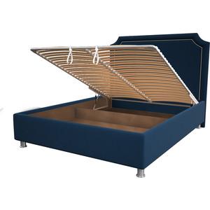 цена Кровать OrthoSleep Федерика blue механизм и ящик 180x200 онлайн в 2017 году