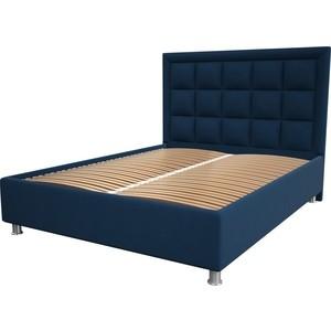 цена Кровать OrthoSleep Альба blue ортопед. основание 180x200 онлайн в 2017 году