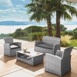Комплект мебели с диваном Afina garden AFM-405B grey