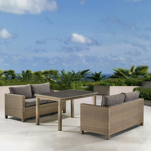 Комплект плетеной мебели Afina garden T256B/S59B-W65 light brown комплект плетеной мебели kvimol км 0064