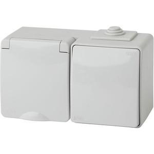 Блок розетка-выключатель ЭРА 11-7601-03 free shipping 10pcs 7601 fan7601 0001 laf0001