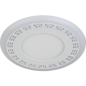 Встраиваемый светильник ЭРА DK LED 12-6 WH встраиваемый светильник эра dk led 11 10 ch