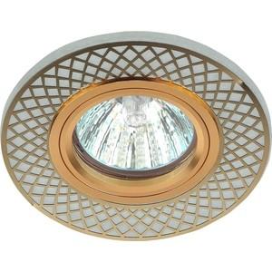 Точечный светильник ЭРА DK LD42 WH/GD электростандарт светильник точечный 206 mr16 gd cl золото прозрачный