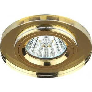 Точечный светильник ЭРА DK7 GD/YL электростандарт светильник точечный 206 mr16 gd cl золото прозрачный