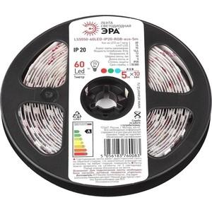 Светодиодная лента ЭРА LS5050-14,4-60-12-RGB-IP20-1 year-5m Б0035606