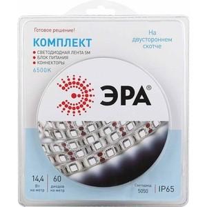 Светодиодная влагозащищенная лента ЭРА 5050kit-14,4-60-12-IP65-6500-5m