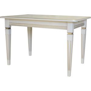 Стол обеденный Мебелик Васко В 89Н слоновая кость/золото 120x80