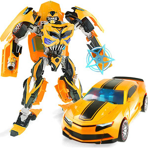Робот-трансформер стальной Wei Jiang Бамблби 30 см - J8069