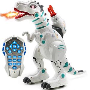 Радиоуправляемый интерактивный динозавр Yearoo стреляет ракетами + дышит паром - 88002