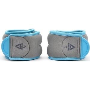 Утяжелители Reebok RAWT-11073BL Elements 0,5 кг серо-голубые (пара)