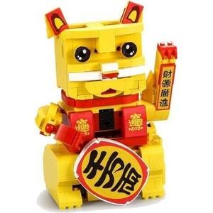 Конструктор Cada китайский Кот удачи интерактивный (525 деталей) фото