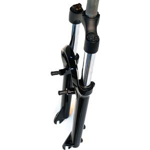 Вилка велосипедная EASING ES 443 AMS 26x1.1\8 ход 55mm, локаут механический, предвар. сжатие, алюмин, черная, 2,5кг