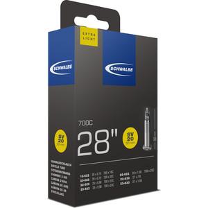 Камера велосипедная SCHWALBE SV20 EXTRA LIGHT, 18/25-622(630), 28-0,7-1,0 50mm вентиль преста, 10400103