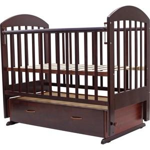 Кроватка Топотушки 120х60 ДАРИНА-6 (арт.03) маятн/ящ (венге) цена 2017