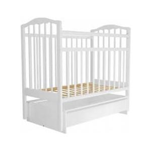 Кроватка Агат 120х60 Золушка-4 (маятн. поперечный + ящик) белая 04 цена 2017