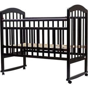 Кроватка Топотушки 120х60 ЛИРА-2 (арт.23) кол/качалка (венге) фото