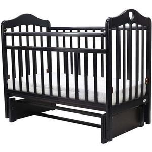 Кроватка Топотушки 120х60 ОЛИВИЯ-5 (арт.37) (с сердечком) универ.маятн/без ящ (венге)