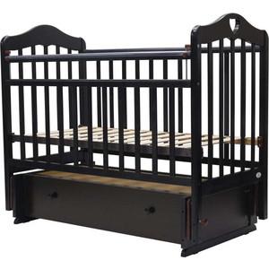 Кроватка Топотушки 120х60 ОЛИВИЯ-7 (арт.36) (с сердечком) универ.маятн/ящ. (венге)