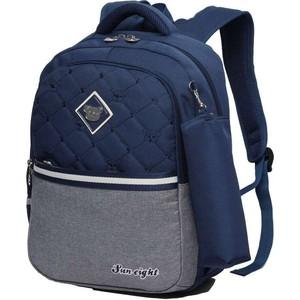Рюкзак Sun eight школьный в комплекте с пеналом SE-2642 темно-синий/серый солнечная панель кемпинговая woodland sun house 100w 71419 серый синий