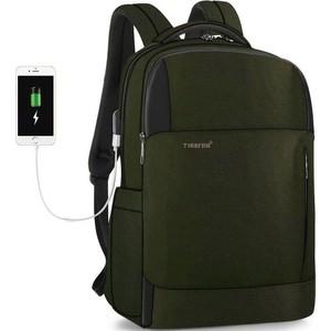 Рюкзак Tigernu T-B3906 темно-зеленый, 15.6