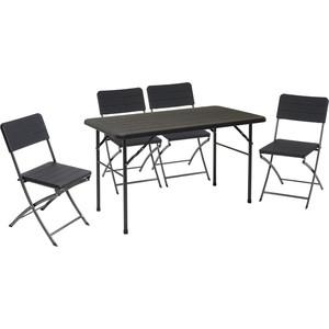 Набор складной мебели Go Garden MIRAMAR, садовый, 120х60х74 см, пластик/сталь набор складной мебели go garden napoli садовый 78х78х74см пластик сталь