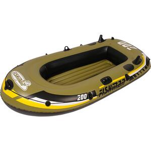 Надувная лодка Jilong FISHMAN 200SET, с веслами и насосом, 218х110х36 см байдарка надувная intex challenger к1 с насосом и веслами цвет зеленый серый черный 274 х 76 х 38 см