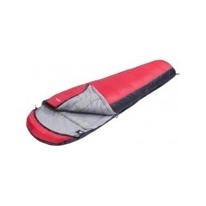 Спальный мешок Jungle Camp Track 300 XL, широкий, трехсезонный, левая молния, цветсерый, красный цена 2017