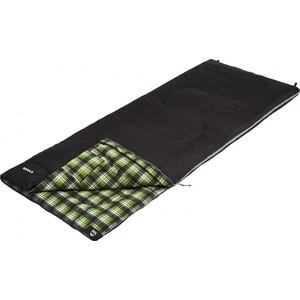 Спальный мешок Jungle Camp Essen, с фланелью, левая молния, цвет черный