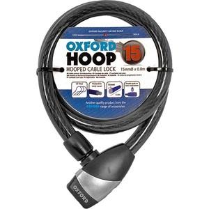 Велосипедный замок Oxford Hoop 15, троссовый, 15 мм Х 800 мм, цвет черный