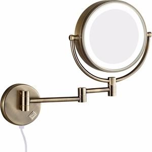 Зеркало косметическое Bronze De Luxe Windsor с подсветкой, бронза (12201BR)