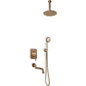 Душевая система Bronze De Luxe Windsor встраиваемая, с изливом, бронза (10137/1 F) фото