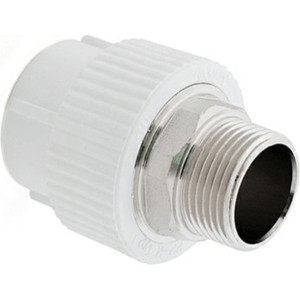 Муфта переходная РосТурПласт PP-R PN25 диаметр 63 мм, наружная резьба 2, под ключ (10670)