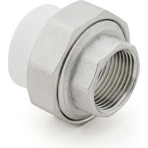 Муфта переходная РосТурПласт PP-R PN25 американка, диаметр 50 мм, внутренняя резьба 1 1/2 (10624)