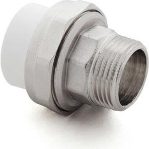 Муфта переходная РосТурПласт PP-R PN25 американка, диаметр 75 мм, наружная резьба 2 1/2 (22676)