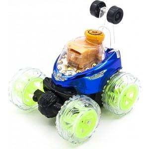 Радиоуправляемая синяя машинка Ren Da перевертыш со звуком, стреляет дисками - RD970-2-B